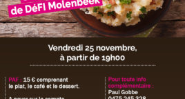 « Stoemp party » avec DéFI Molenbeek-Saint-Jean